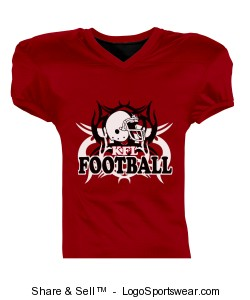 Youth Fleaflicker Reversible Football Jersey Design Zoom